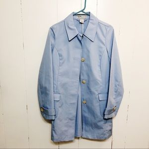 Old Navy Light Blue Button Trench Coat